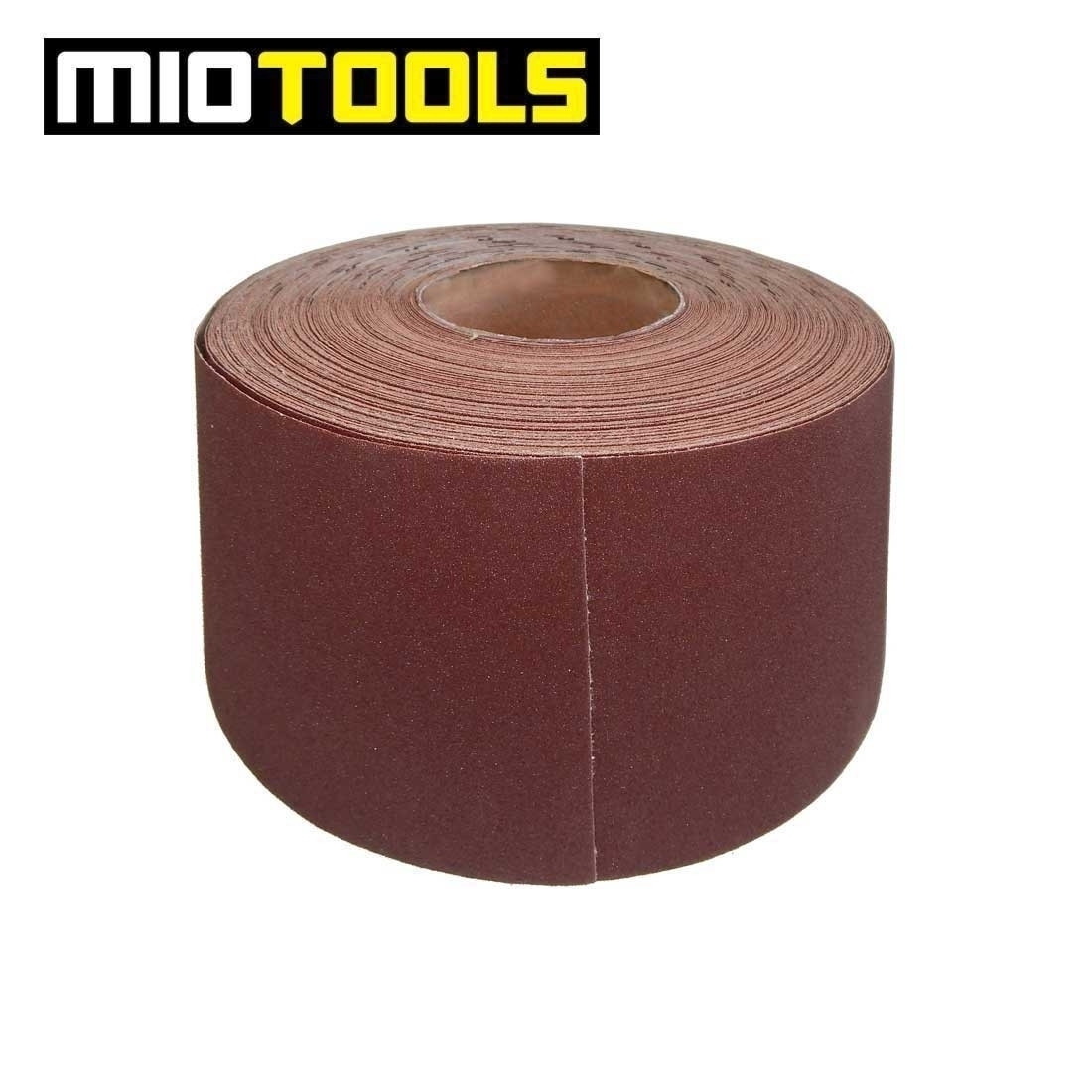 MioTools sanding paper roll for hand sanders / 115 mm x 50 m / Aluminium Oxide