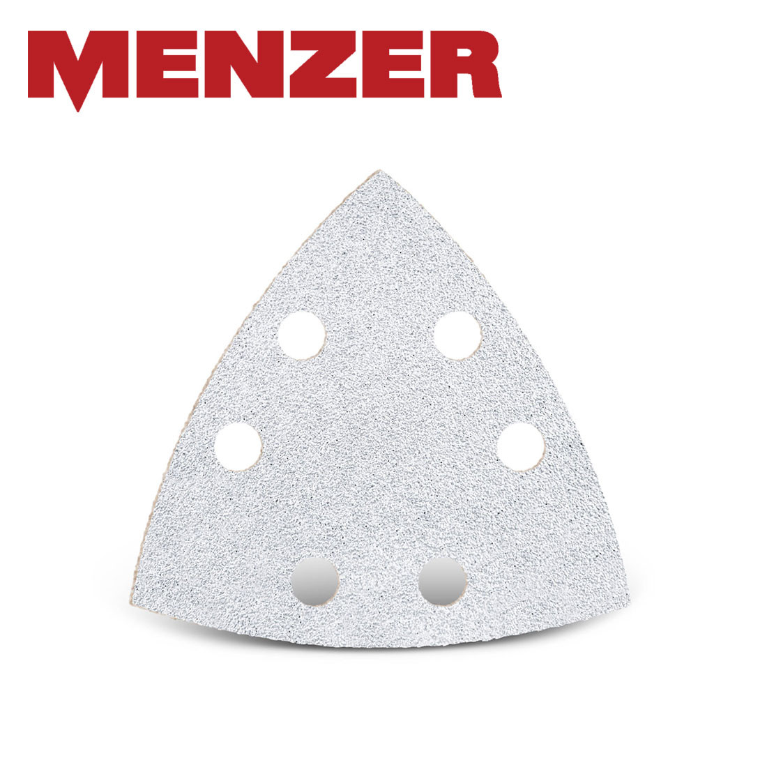 MENZER hook & loop sanding sheets for delta sanders / 93 mm / 6  hole / stearated Aluminium Oxide