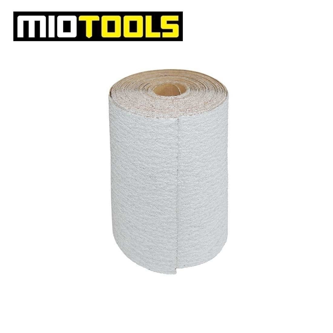 MioTools sanding paper roll for hand sanders / 93 mm x 5 m / stearated Aluminium Oxide