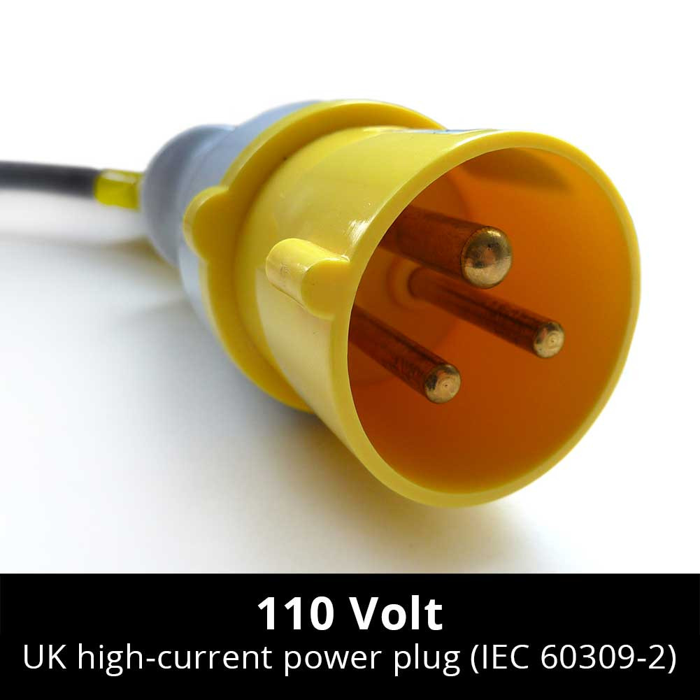 plug for 110 V high-current power installations in UK