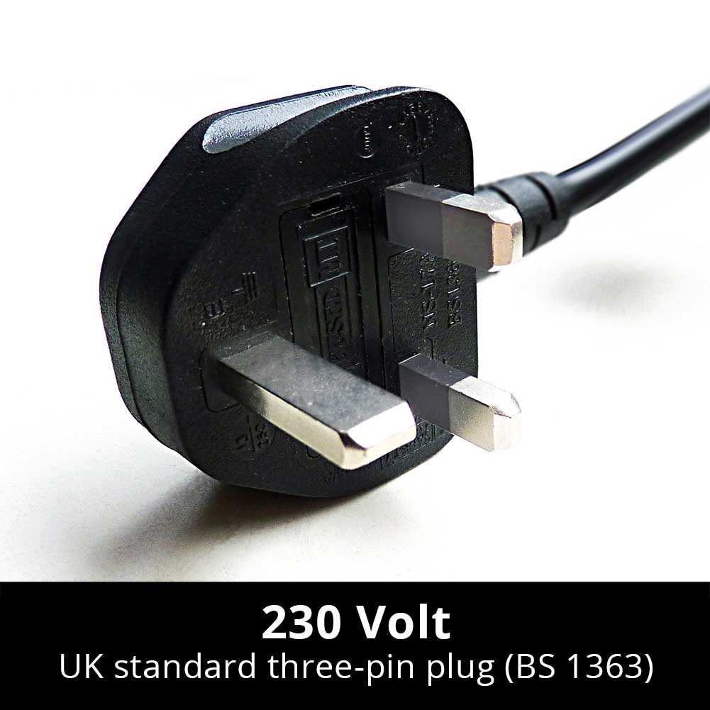 plug for standard UK three-pin wall sockets