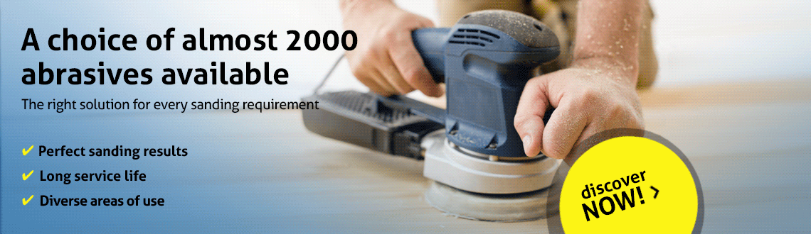 A choice of almost 2000 abrasives available